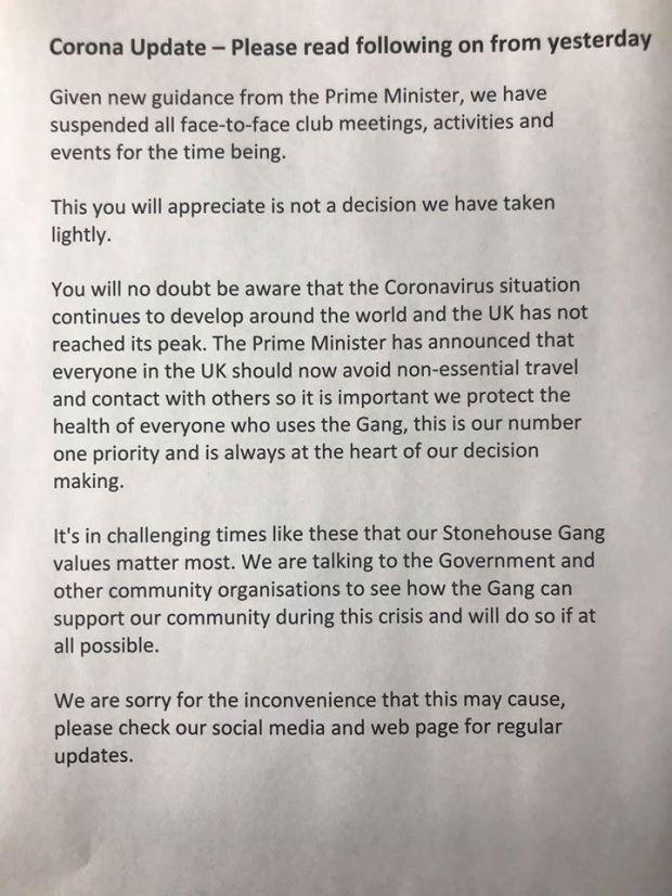 SHG Corona statement